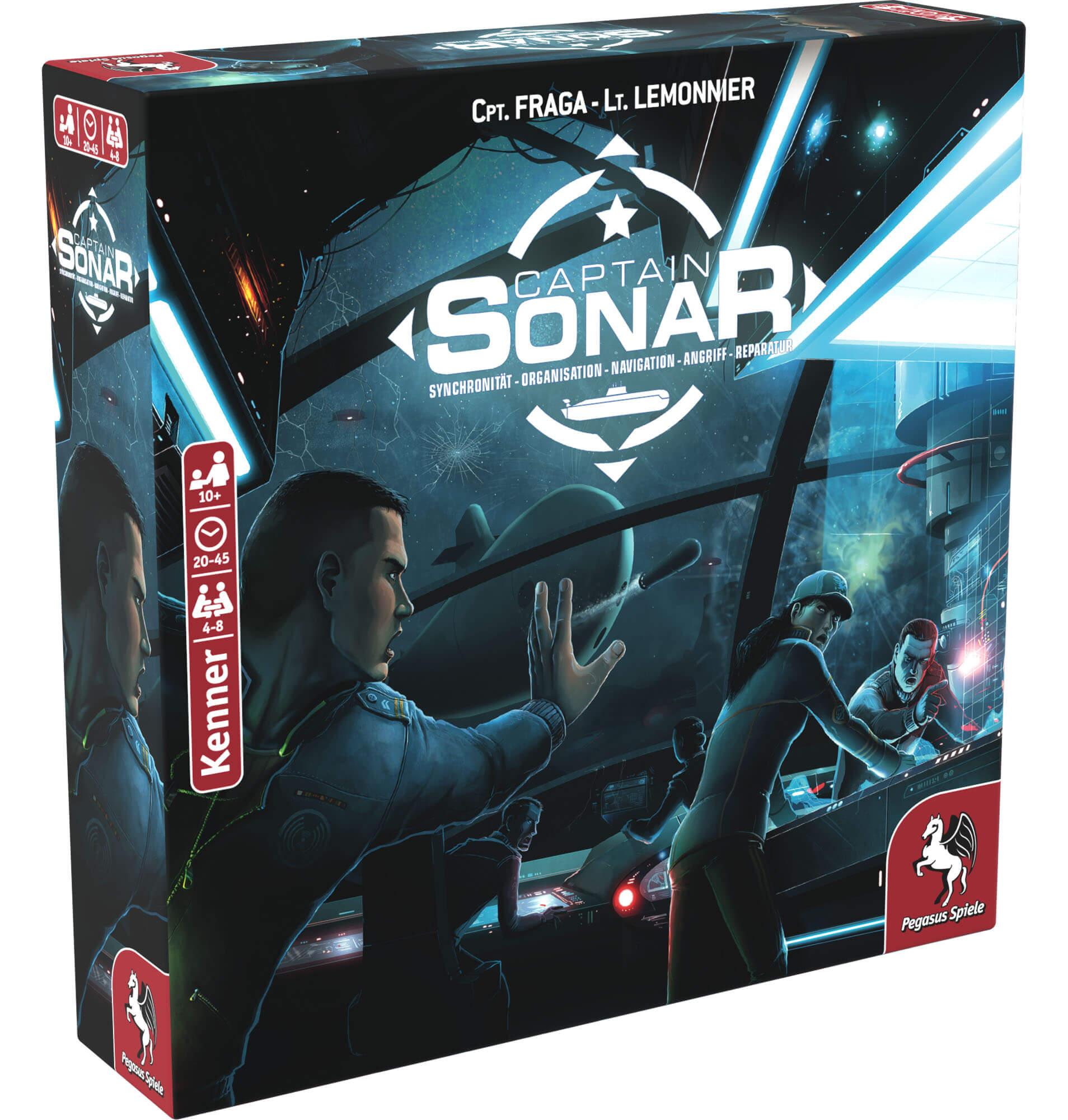 Schachtel Vorderseite rechts- Captain Sonar