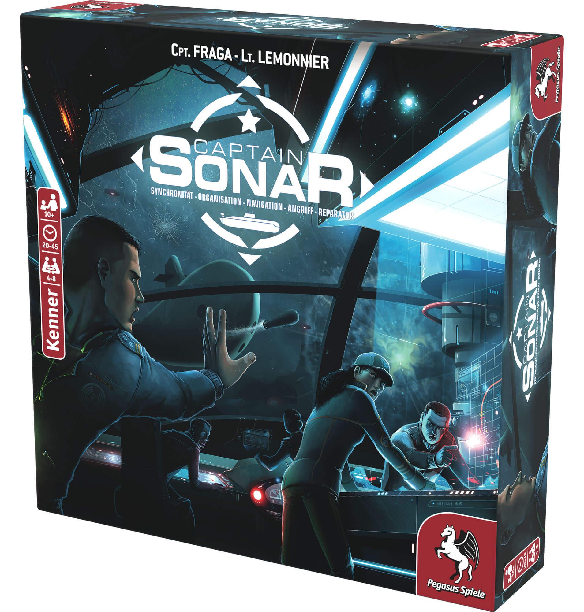 Schachtel Vorderseite links- Captain Sonar