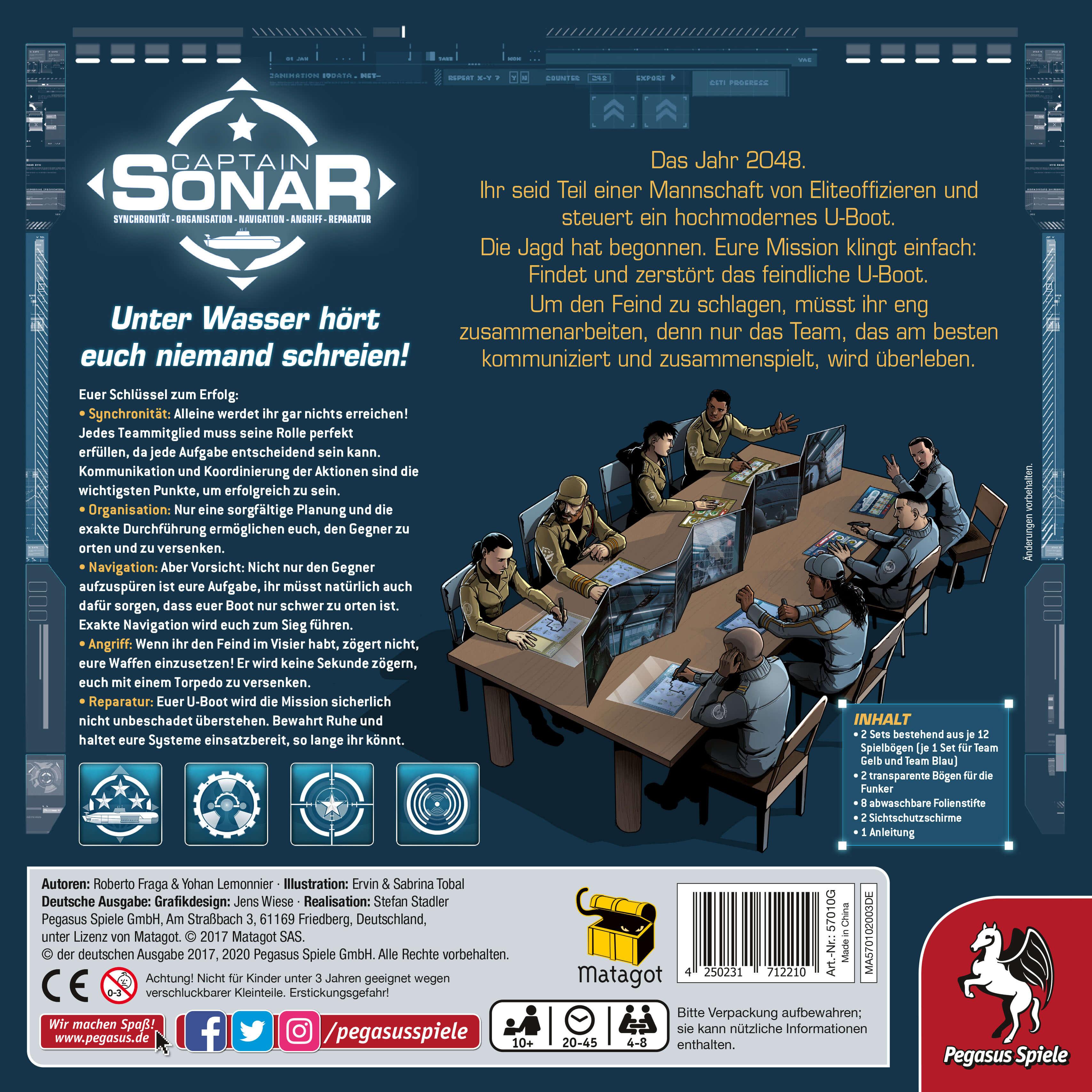 Schachtel Rückseite- Captain Sonar