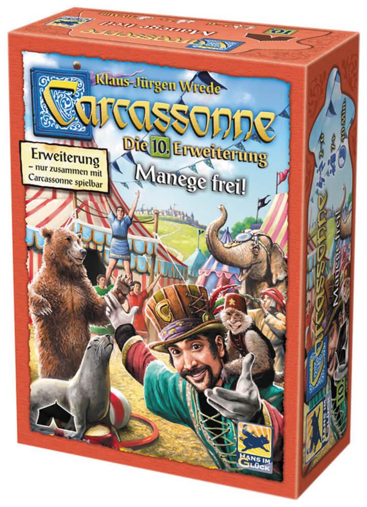 Schachtel Vorderseite- Carcassonne - Manege frei!