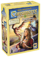 Schachtel Vorederseite - Carcassonne - Burgfräulein und Drache