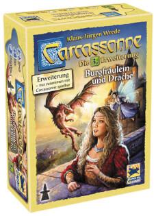 Schachtel Vorederseite- Carcassonne - Burgfräulein und Drache