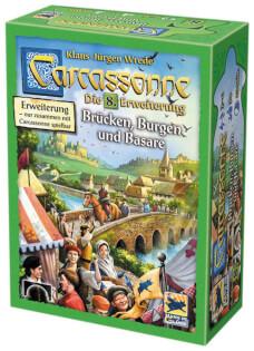 Schachtel Vorderseite- Carcassonne - Brücken, Burgen und Basare