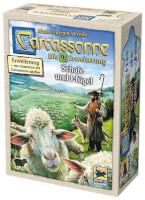 Schachtel Vorderseite - Carcassonne - Schafe und Hügel
