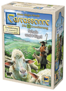 Schachtel Vorderseite- Carcassonne - Schafe und Hügel