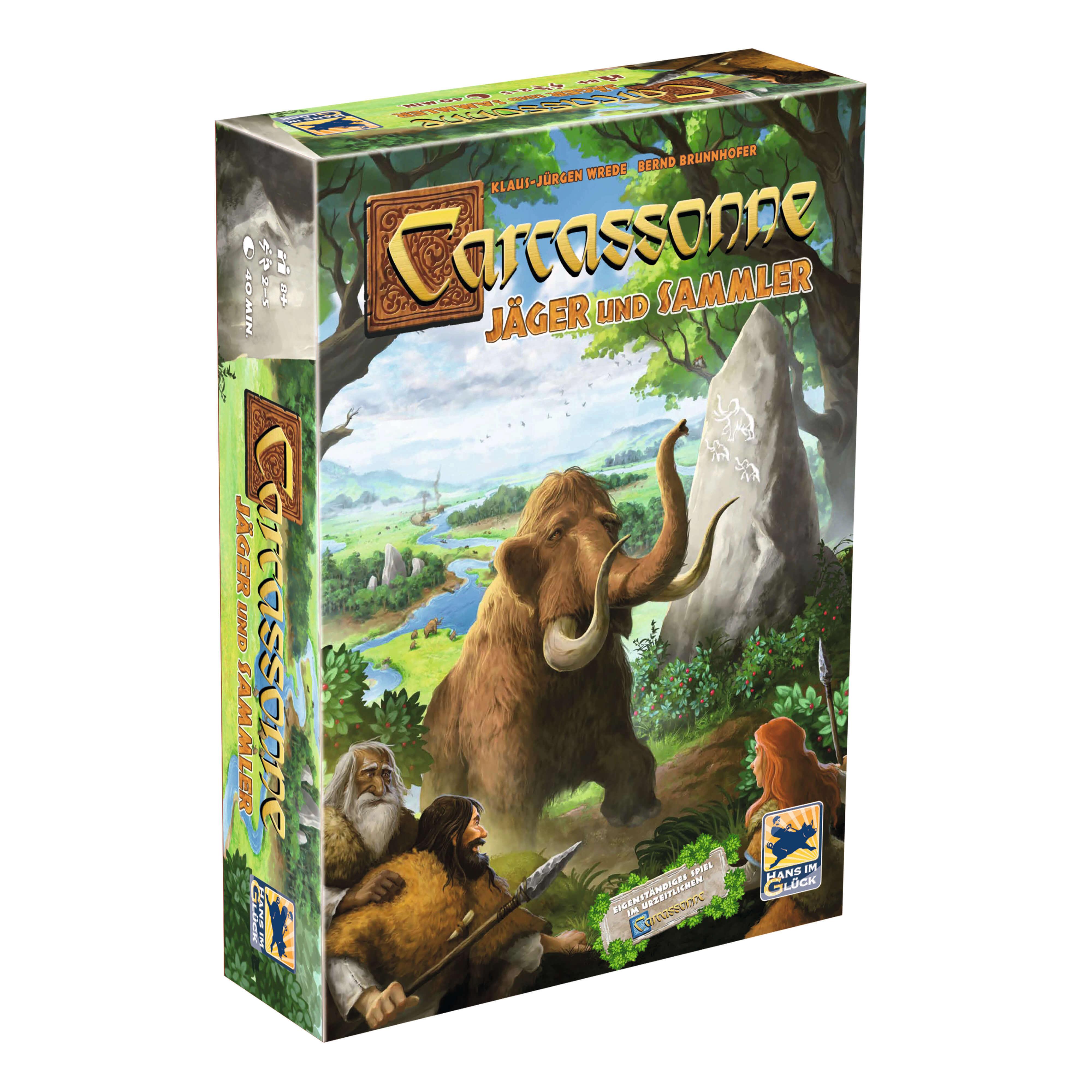 Schachtel Vorderseite- Carcassonne - Jäger und Sammler