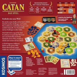 Schachtel Rückseite - Spiel des Jahres 1995- Catan - Das Spiel