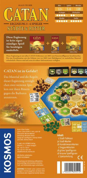 Schachtel Rückseite- Catan: Städte & Ritter 5-6 Spieler