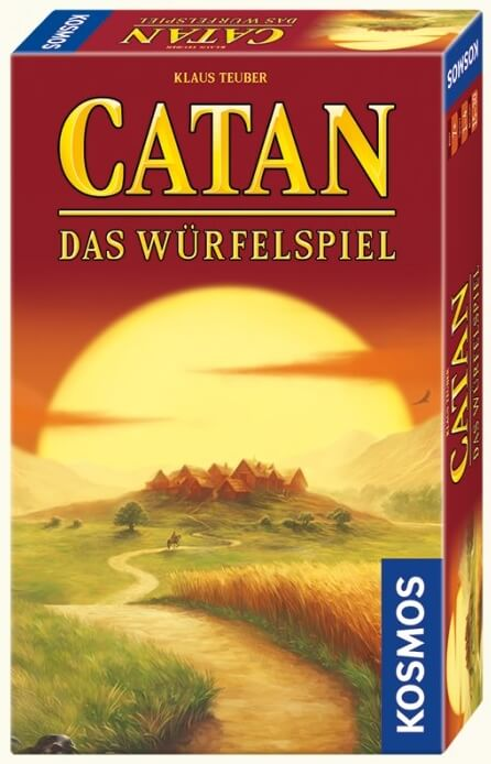 Schachtel Vorderseite, rechte Seite- Catan - Das Würfelspiel