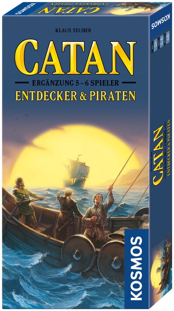 Schachtel Vorderseite, rechte Seite- Catan: Entdecker & Piraten 5-6 Spieler