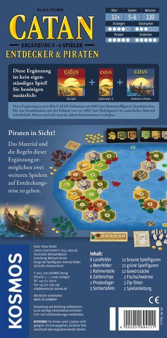 Schachtel Rückseite- Catan: Entdecker & Piraten 5-6 Spieler