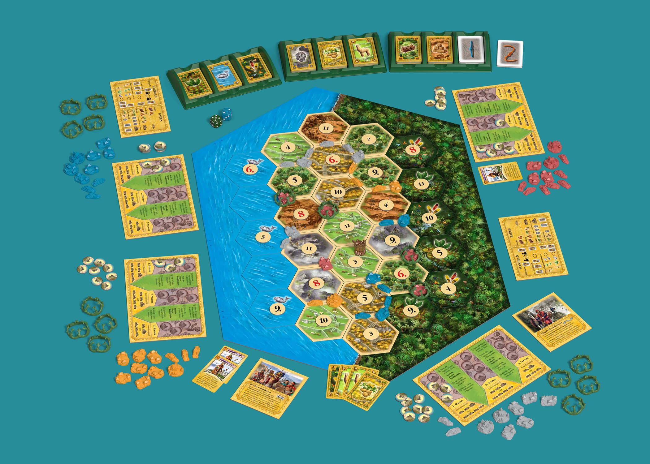 Spielmaterial- Catan - Der Aufstieg der Inka