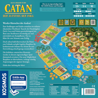 Schachtel Rückseite- Catan - Der Aufstieg der Inka
