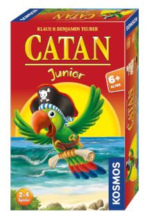 Schachtel Vorderseite, rechte Seite- Catan Junior - Mitbringspiel