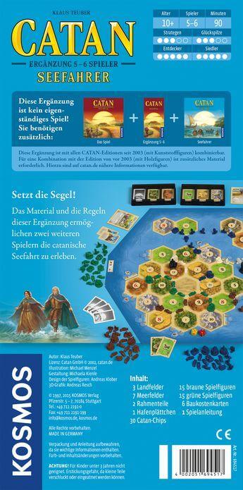 Schachtel Rückseite- Catan: Seefahrer 5-6 Spieler