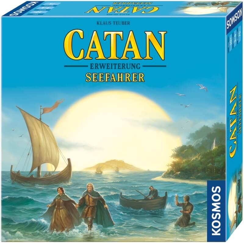 Schachtel Vorderseite, rechte Seite- Catan: Seefahrer 3-4 Spieler