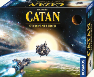 Schachtel Vorderseite, rechte Seite- Catan - Sternenfahrer