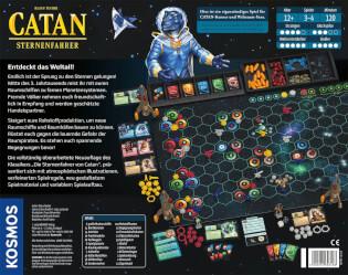 Schachtel Rückseite- Catan - Sternenfahrer