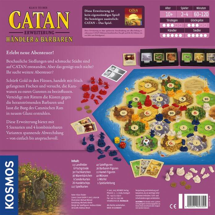 Schachtel Rückseite- Catan: Händler & Barbaren