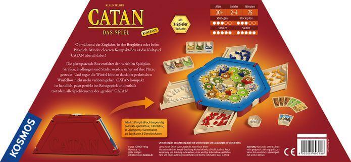 Schachtel Rückseite- Catan: Das Spiel Kompakt