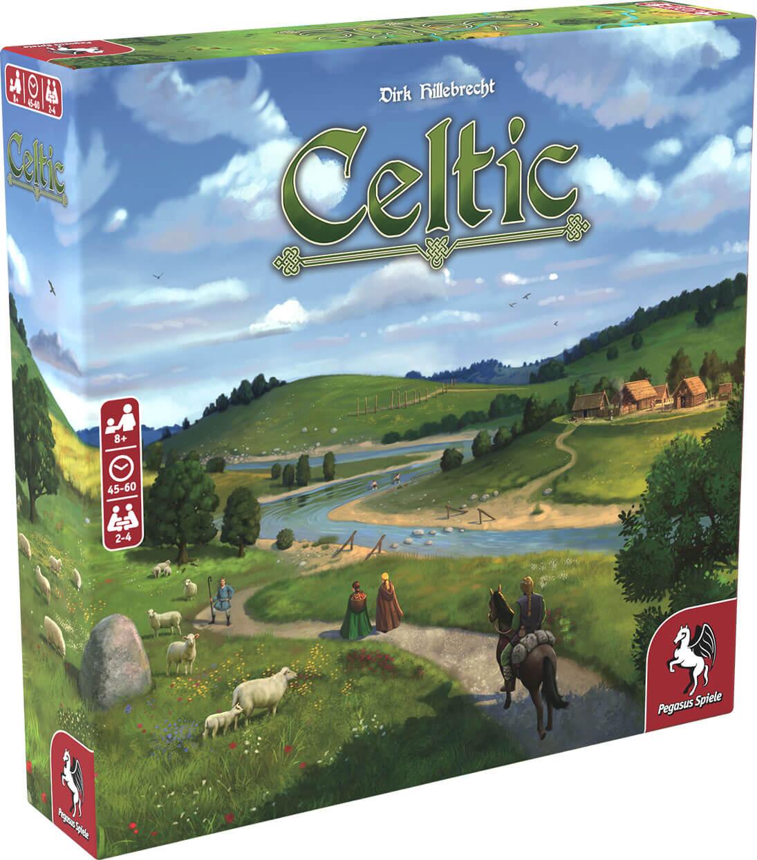 Schachtel Vorderseite, linke Seite- Celtic