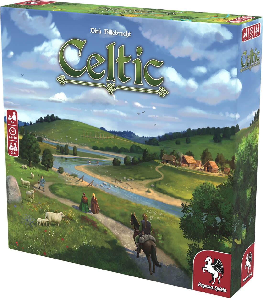 Schachtel Vorderseite, rechte Seite- Celtic