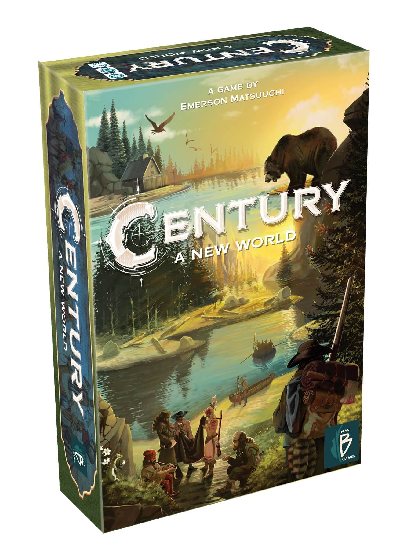 Schachtel Vorderseite, linke Seite- Century 3 – Eine neue Welt