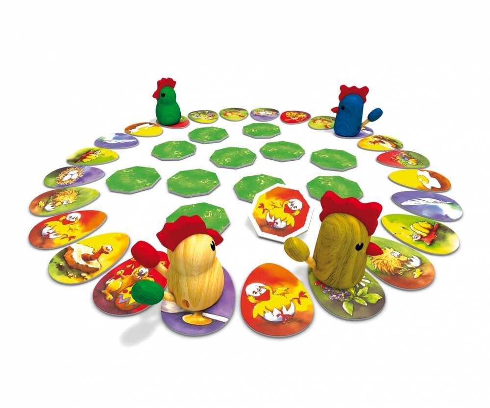 Spielmaterial - Kinderspiel des Jahres 1998- Zicke Zacke Hühnerkacke