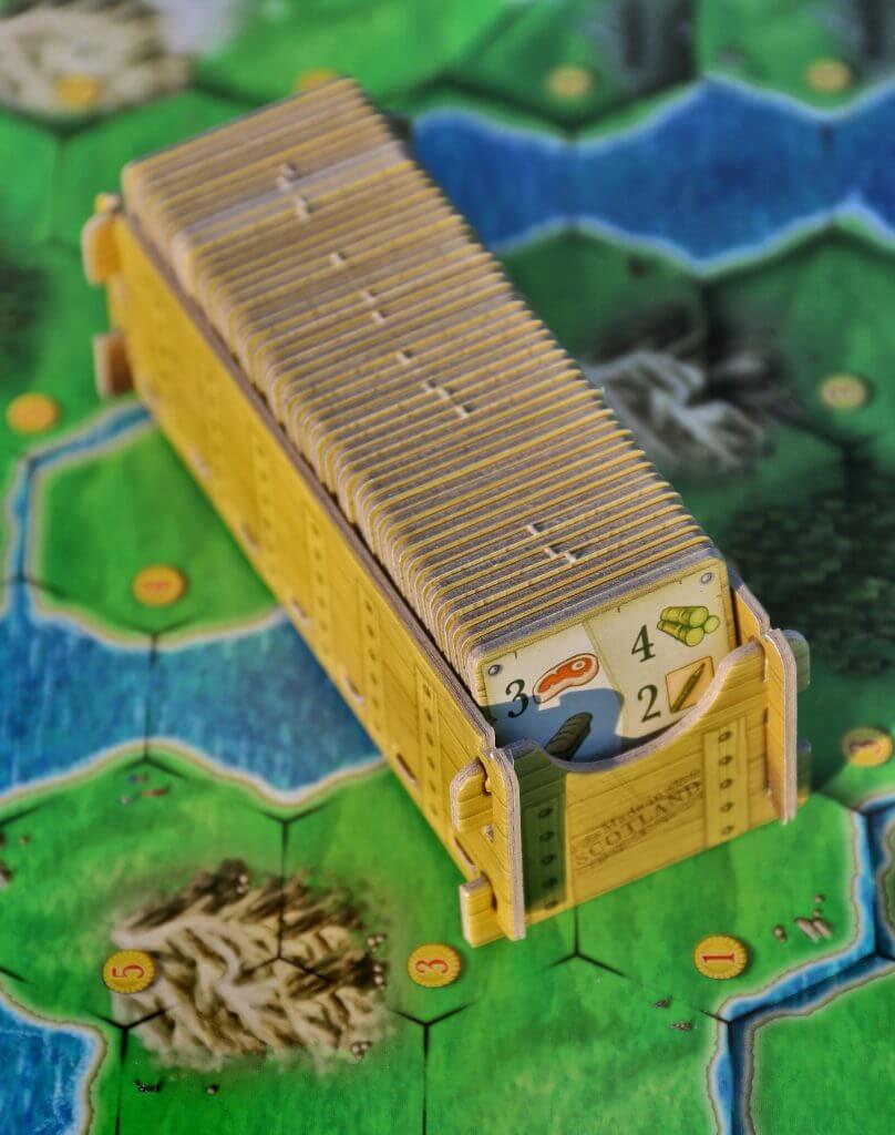 Spielplan mit Exportaufträgen- Clans of Caledonia