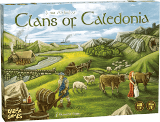 Schachtel Vorderseite- Clans of Caledonia