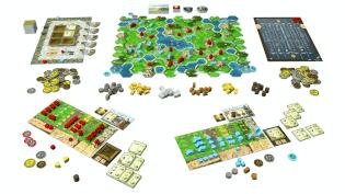 Spielplan- Clans of Caledonia