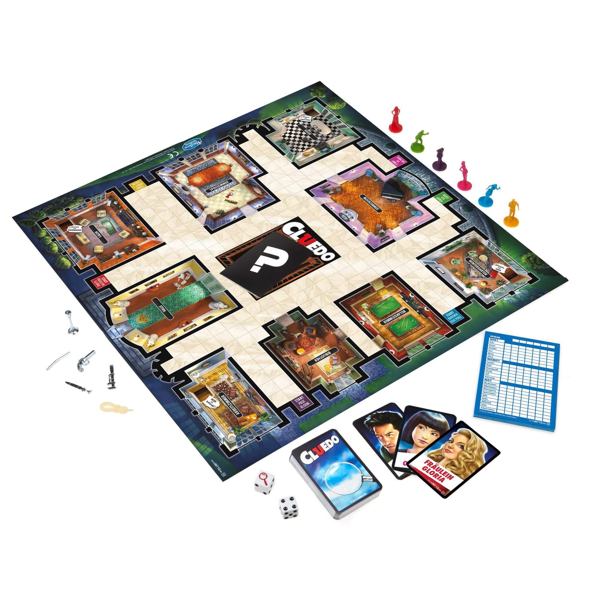 Spielplan und Karten- Cluedo