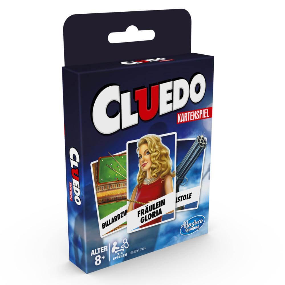 Schachtel Vorderseite- Cluedo - Kartenspiel