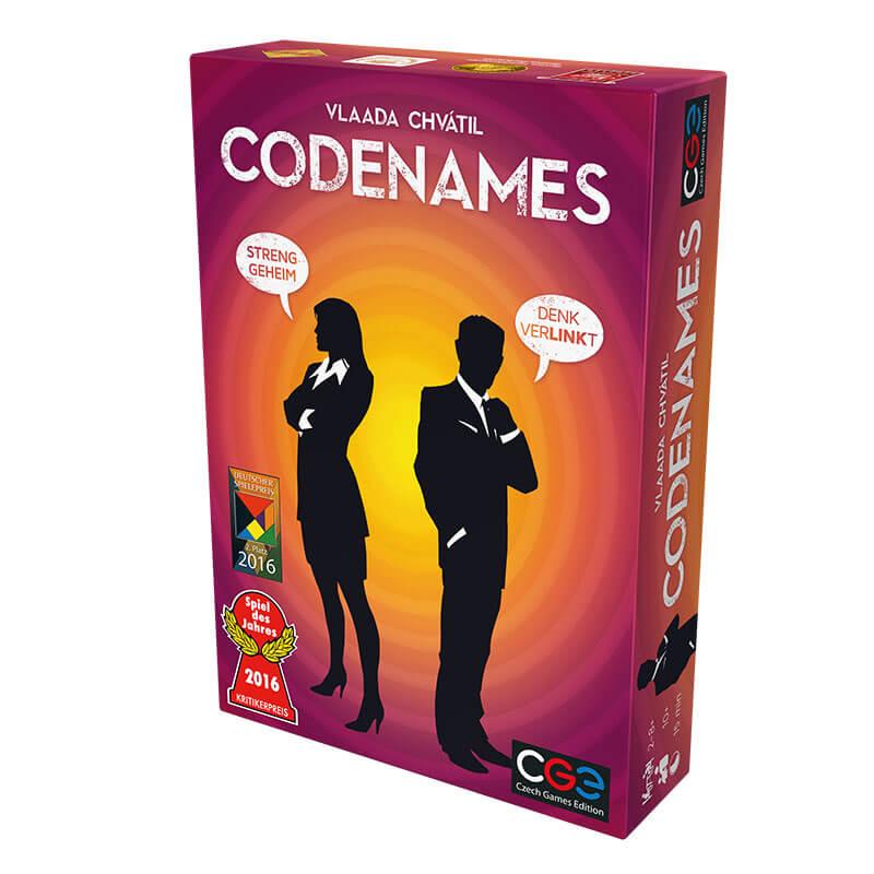 Schachtel Vorderseite - Spiel des Jahres 2016- Codenames