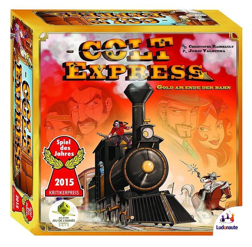 Schachtel Vorderseite - Spiel des Jahres 2015- Colt Express