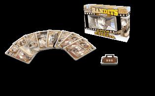 Spielmaterial - Spielkarten und Geldkasette- Colt Express - Bandits Ghost