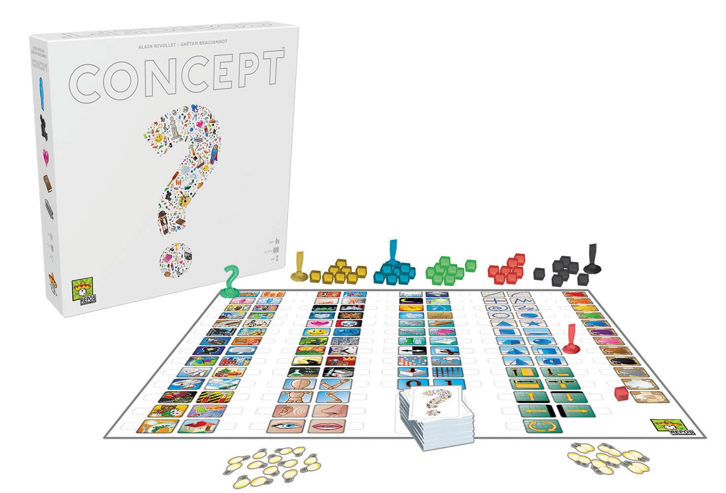 Schachtel mit Spielmaterial -  - nominiert zum Spiel des Jahres 2014- Concept