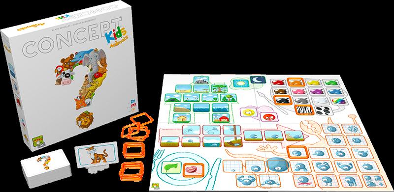 Spielmaterial - Plan und Karten- Concept Kids - Tiere