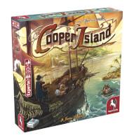 Schachtel Vorderseite, linke Seite - Cooper Island