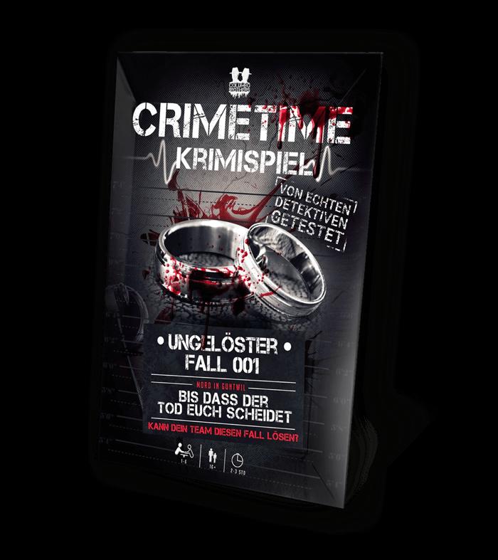 Schachtel Vorderseite- Crimetime - Fall 001 - Bis dass der Tod euch scheidet