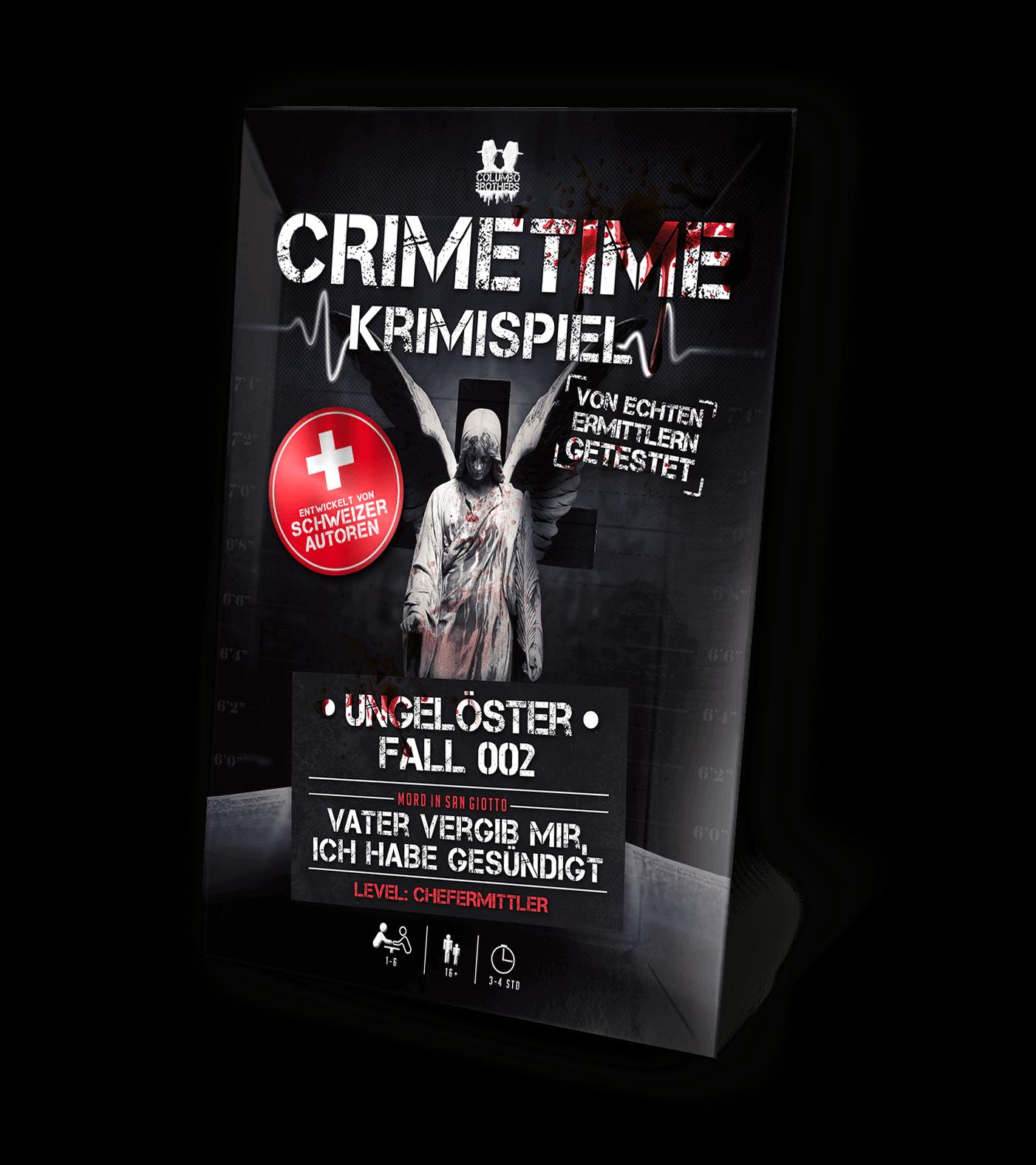 Schachtel Vorderseite - Crimetime - Fall 002 - Vater vergib mir, ich habe gesündigt