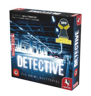 Schachtel Vorderseite links- Detective – Ein Krimi-Brettspiel