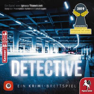 Schachtel Vorderseite- Detective – Ein Krimi-Brettspiel