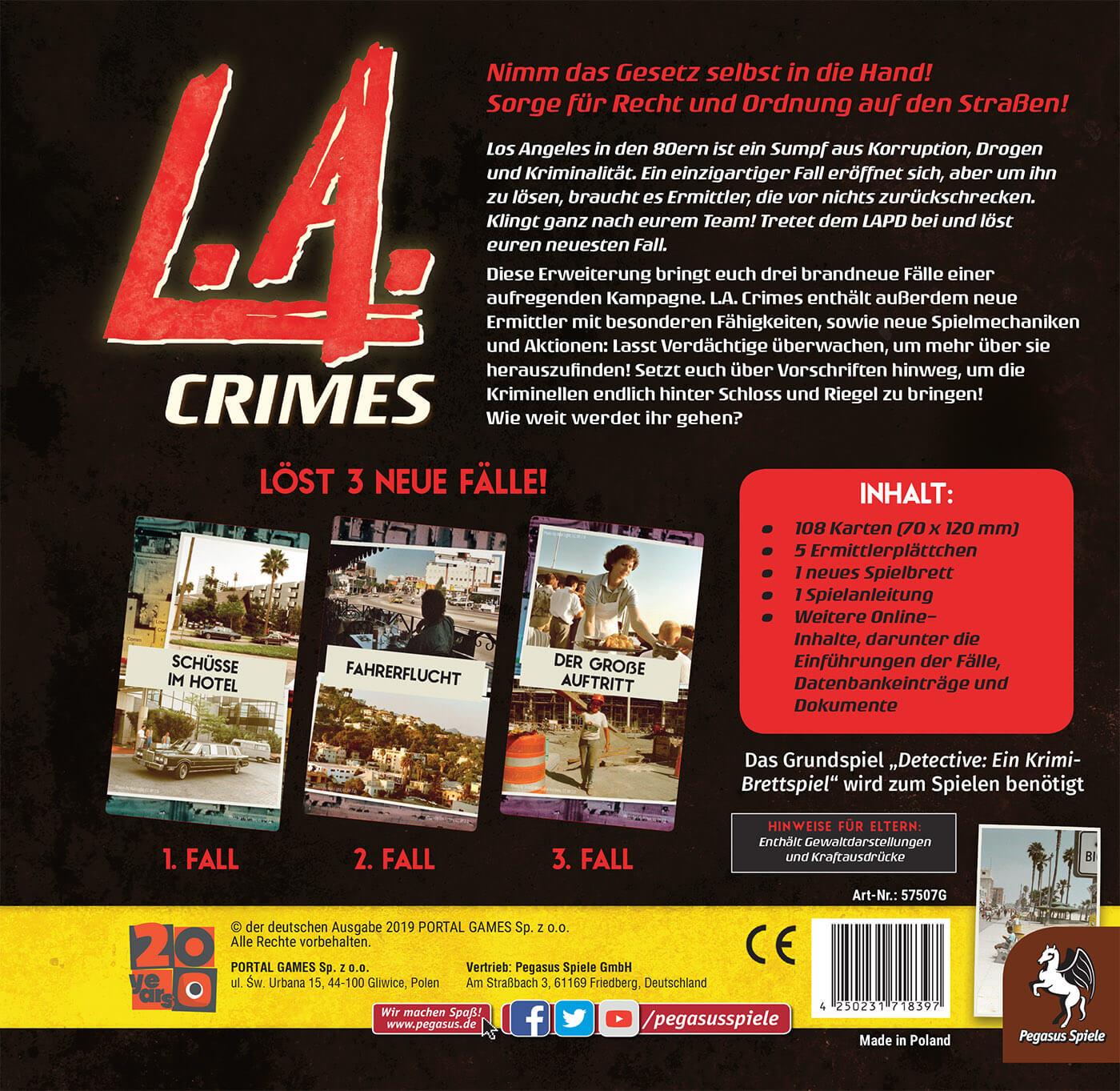 Schachtel Rückseite- Detective: L.A. Crimes