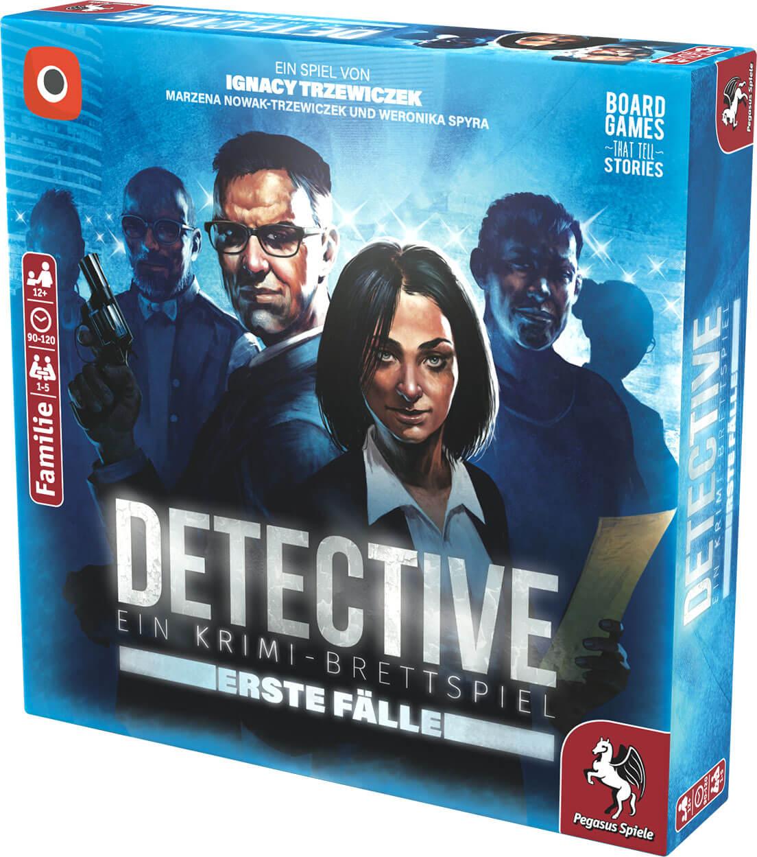 Schachtel Vorderseite rechts- Detective – Erste Fälle