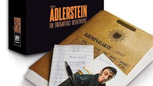 Spielmaterial mit Spielschachtel- Detective Stories - Das Feuer in Adlerstein
