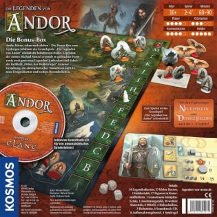 Schachtel Rückseite- Die Legenden von Andor – Die Bonus-Box