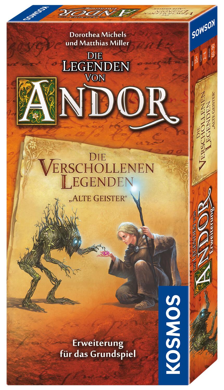 Schachtel Vorderseite- Die Legenden von Andor - Die verschollenen Legenden