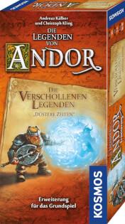Schachtel Vorderseite- Die Legenden von Andor – Verschollene Legenden: Düstere Zeiten