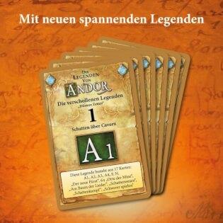 Spielkarten- Die Legenden von Andor – Verschollene Legenden: Düstere Zeiten